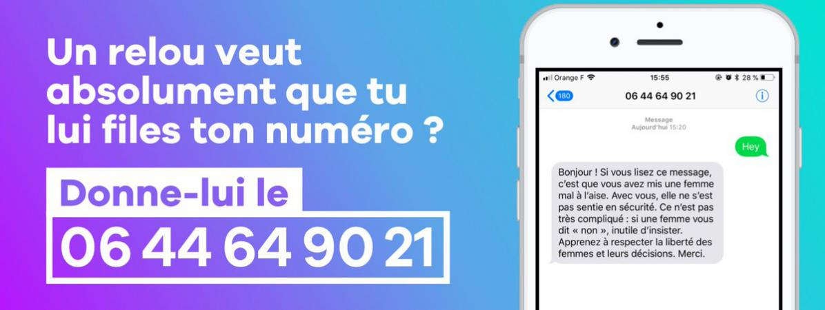 d0444d88eea Deux activites féministes ont imaginé un numéro de téléphone que les femmes  puissent donner à un