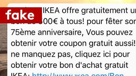 le vrai du faux non ikea n 39 offre pas un bon de 500 euros tous pour son 75e anniversaire. Black Bedroom Furniture Sets. Home Design Ideas