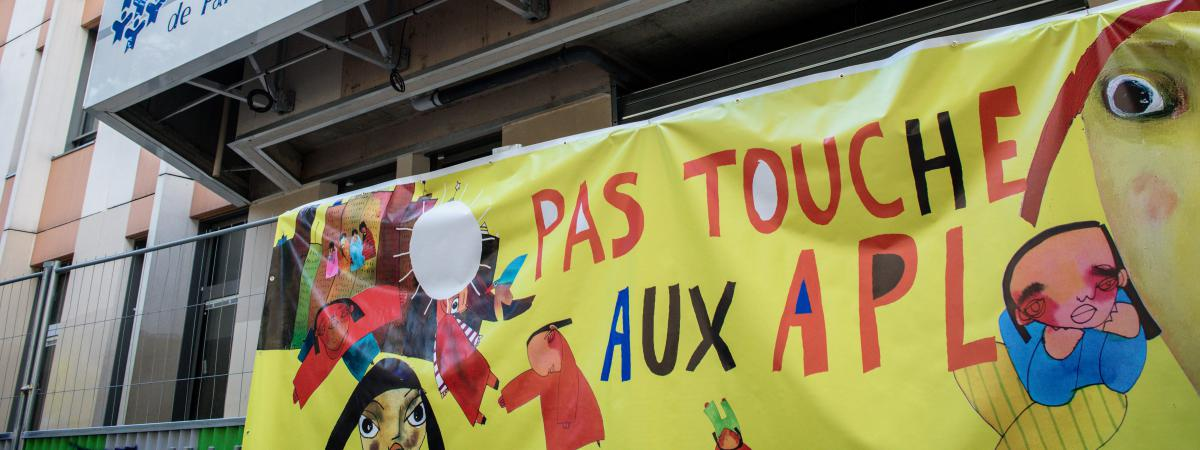 Une manifestation contre la baisse des APL. (Photo d\'illustration)