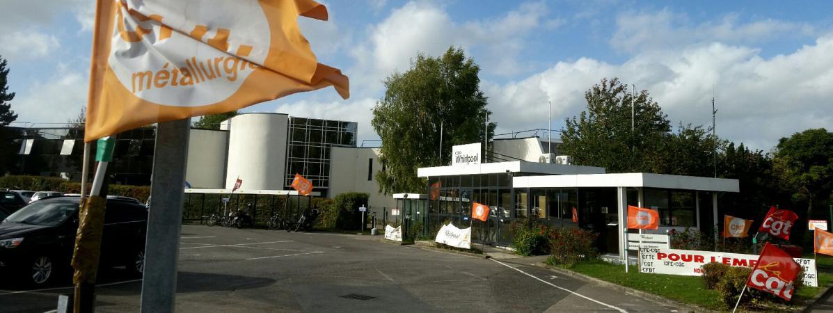 Le site du groupe d\'électroménager Whirlpool à Amiens, en octobre 2017.