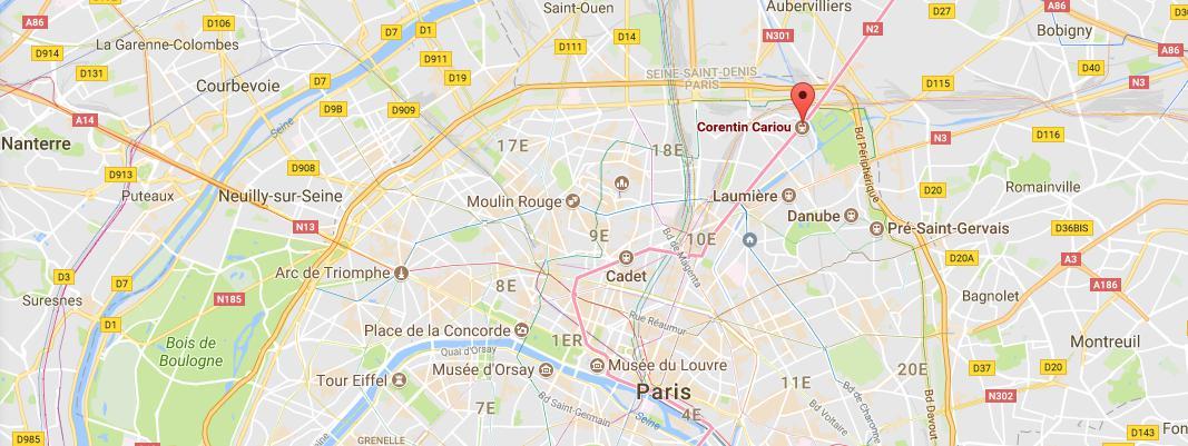 L\'accident à eu lieu à la bouche de métro Corentin Carriou dans le 19e arrondisement, à Paris.