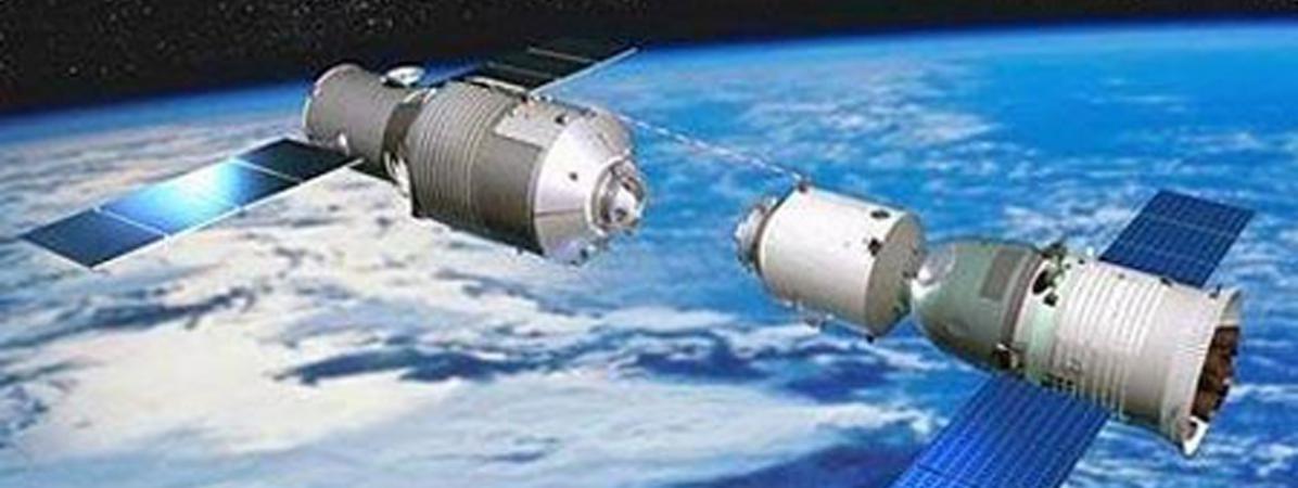 Des boutsdu laboratoire spatialTiangong-1 pourraient tomber sur Terre, a annoncé l\'ESA, le 6 novembre 2017.