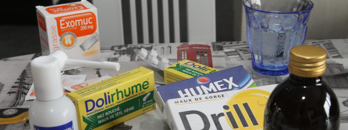 rhume nez bouché medicament