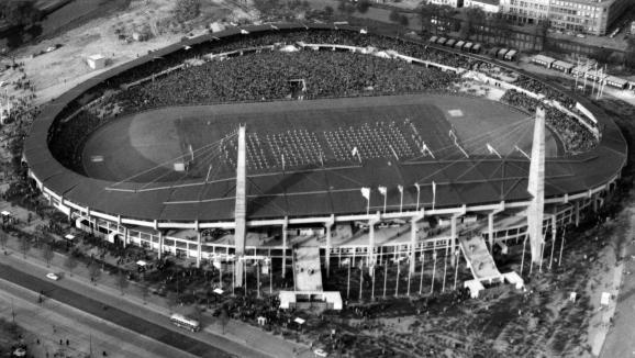 Stade de Göteborg (Suède) où s'est déroulé la finale de la Coupe du Monde en 1958.