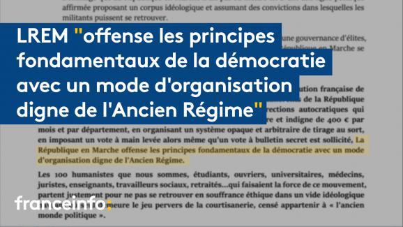 """Extrait de la tribune des \""""100 démocrates\"""" de LREM"""