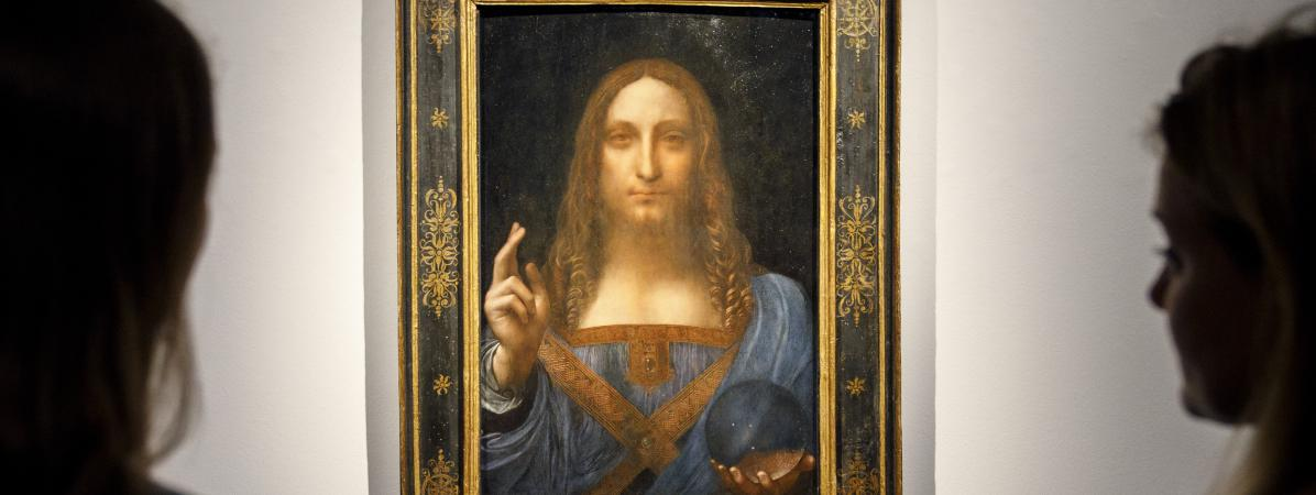 """Le tableau de Léonard de Vinci, \""""Salvator Mundi\"""", mis aux enchères à New York le 15 novembre, est la propriété du milliardaire russe Dmitri Rybolovlev, qui préside le club de football de l\'AS Monaco."""