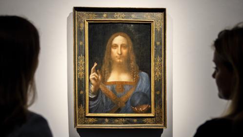 """Un Léonard de Vinci controversé aux enchères : """"Ce qui cloche, c'est le majeur de la main droite du Christ"""""""