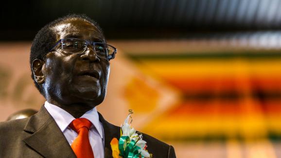 Robert Mugabe le 7 avril 2016, à Harare (Zimbabwe).