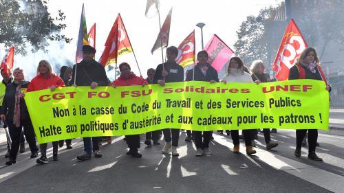 """DIRECT. Grève contre les réformes du gouvernement : """"on veut tirer la sonnette d'alarme"""", lance Jean-Claude Mailly"""