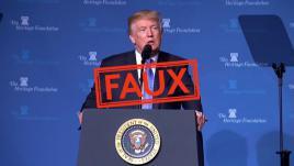 """VIDEO. Obamacare, """"fake news""""... Voici le compteur des mensonges de Donald Trump depuis son investiture"""