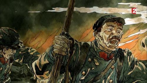 """VIDEO. """"13h15"""". Le jour où la France essaie son premier lance-flammes sur la butte de Vauquois en juin 1915..."""