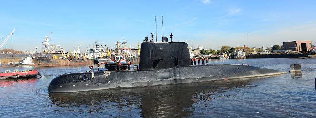 """Le sous-marin argentin \""""San Juan\"""" stationné à Buenos Aires (Argentine), en 2014."""