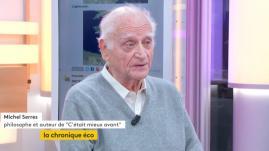 """VIDEO. Michel Serres : """"Le monde n'est pas bon, mais il est meilleur qu'avant"""""""