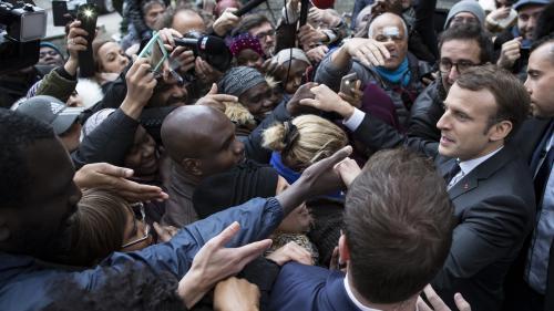 """VIDEO. """"La France ne peut pas accueillir toute la misère du monde, comme disait Michel Rocard"""", lance Emmanuel Macron"""
