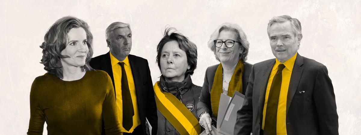 Les ex-députés Nathalie Kosciusko-Morizet, François Sauvadet, Patricia Adam, Geneviève Fioraso et Bernard Accoyer.