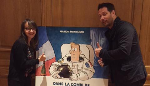 """Thomas Pesquet raconté en BD par Marion Montaigne : """"Jai fait tout un patchwork, c'est à la fois Thomas, mais c'est surtout L'archétype de l'astronaute"""""""