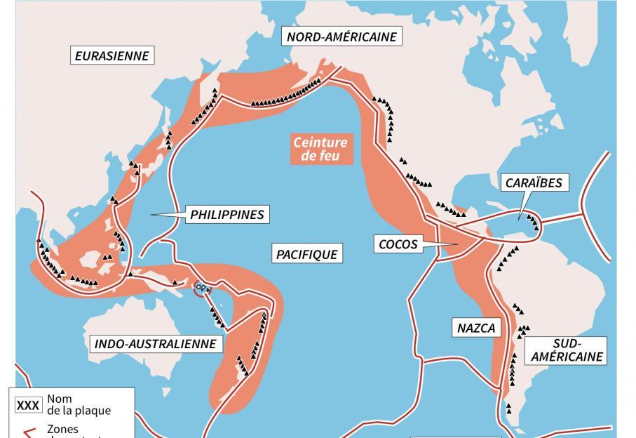Carte Bali Volcan.Expliquez Nous La Ceinture De Feu Du Pacifique Et L
