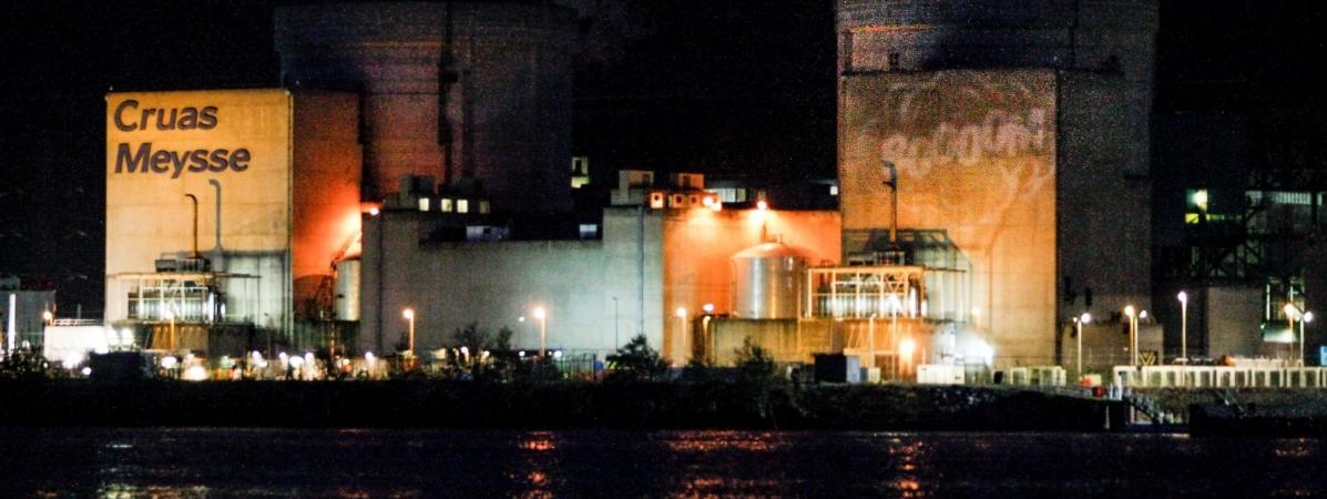 Une vingtaine de militants de Greenpeace France se sont introduits dans la centrale nucléaire de Cruas-Meysse (Ardèche), le 28 novembre 2017.