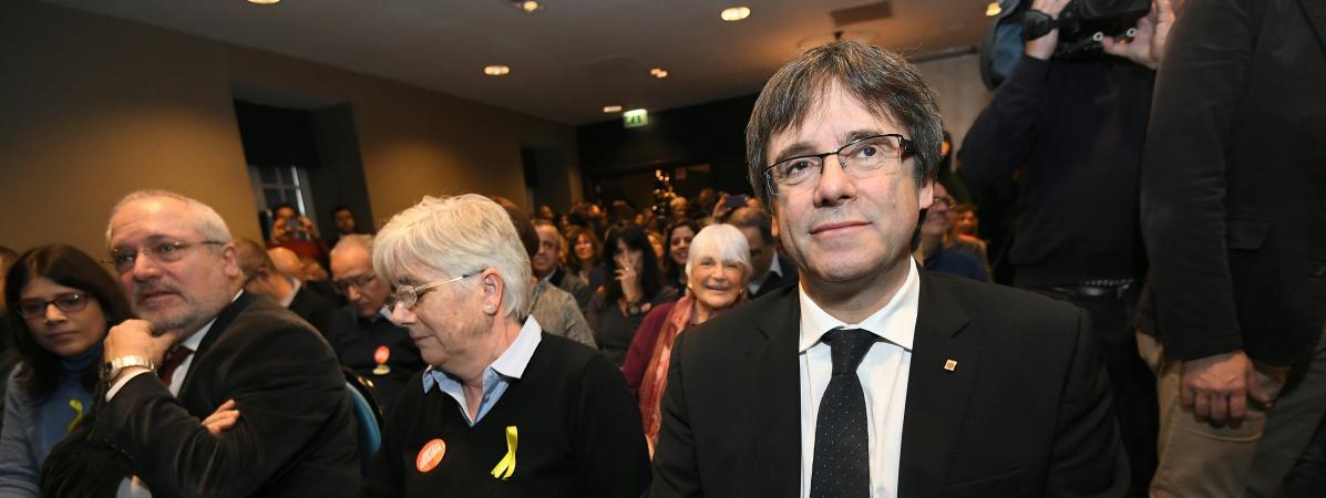Carles Puigdemont, le 25 novembre 2017, àOostkamp (Belgique).
