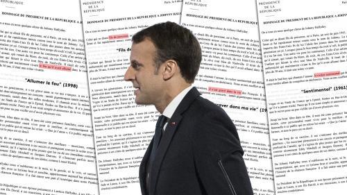 Mort de Johnny : les 22 clins d'œil de Macron dans son hommage