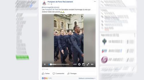 """VIDEO. Mort de Johnny Hallyday : les pompiers de Paris reprennent """"Les Portes du pénitencier"""" pour lui rendre hommage"""