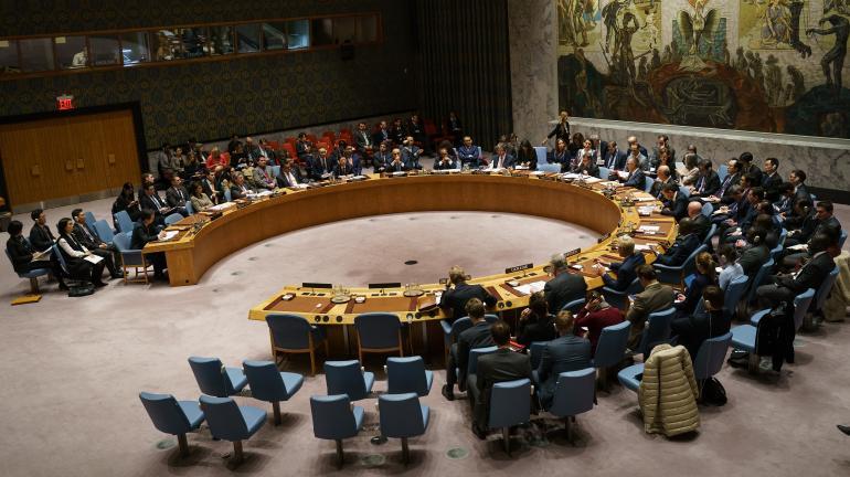 Le Conseil de sécurité de l\'ONU, à New York (Etats-Unis), le 29 novembre 2017.
