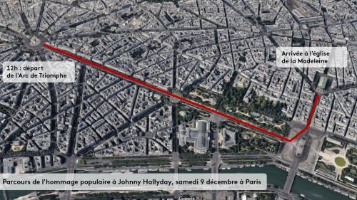 DIRECT. Mort de Johnny Hallyday : 1 500 policiers et gendarmes mobilisés samedi midi à Paris pour sécuriser les Champs-Elysées