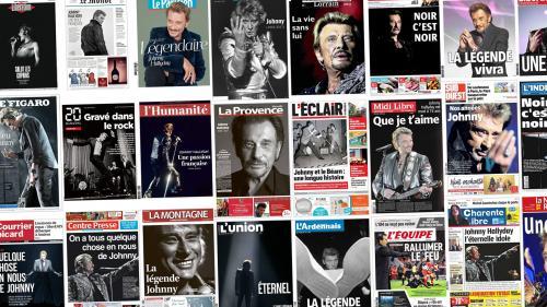"""EN IMAGES. """"Légendaire"""", """"éternel""""… Johnny à la une de tous les journaux français"""