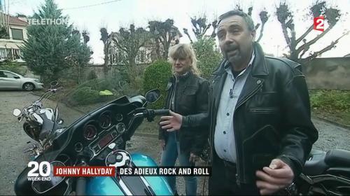 """VIDEO. Mort de Johnny Hallyday : """"Niveau émotion, ça va être assez lourd"""" : un motard qui sera dans le cortège termine ses préparatifs"""