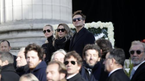 EN IMAGES. Hommage à Johnny : l'émotion de la famille et des people proches du rockeur durant la cérémonie