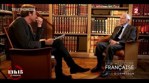 """VIDEO. """"13h15"""". Jean d'Ormesson : """"La vie est belle parce que nous mourons"""""""
