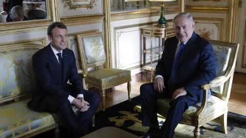 """VIDEO. Macron appelle Netanyahou à faire """"un geste vers les Palestiniens"""""""