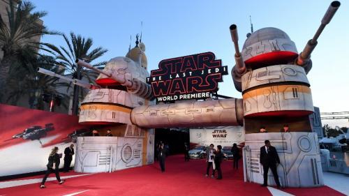 """Cinéma : à Los Angeles, première mondiale en démesure pour """"Les Derniers Jedi"""", l'épisode8 de Star Wars"""