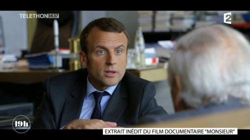 """VIDEO. """"19h le dimanche"""". """"Je n'ai jamais aimé les salles faciles"""", confiait Emmanuel Macron à Jean d'Ormesson en mai 2016"""