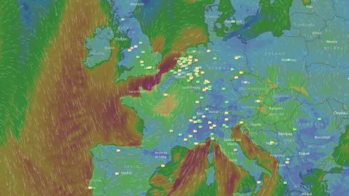 CARTE. Suivez en direct l'évolution de la tempête Ana qui balaye la France