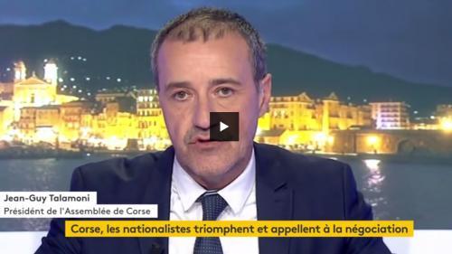 """Jean-Guy Talamoni : """" la Corse n'est pas une circonscription électorale, c'est une nation"""""""