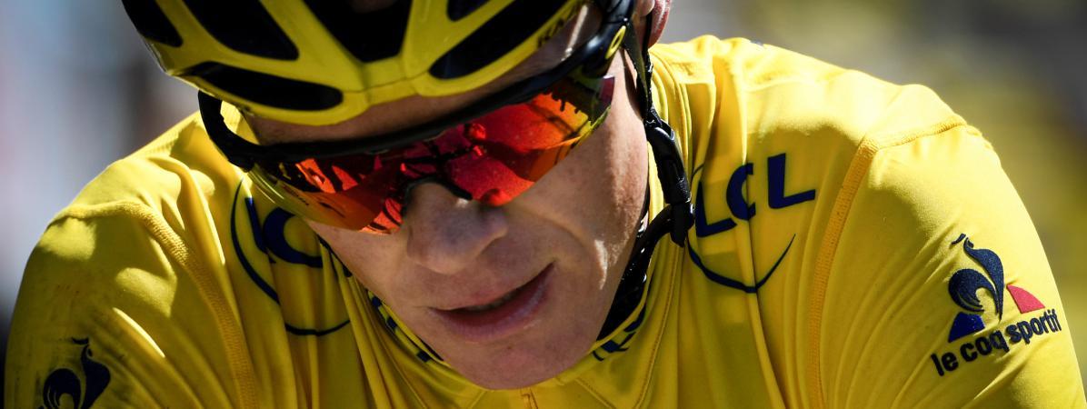Christopher Froome sur la douzième étape du Tour de France, le 14 juillet 2016.