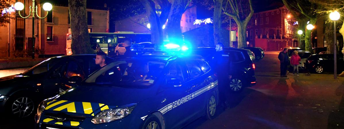 Le collège de Millas (Pyrénées-Orientales), jeudi 14 décembre 2017, après la collision mortelle entre un car scolaire et un train.