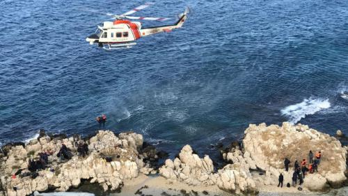 VIDEO. Turquie : 51 migrants, échoués sur un rocher, secourus par des garde-côtes