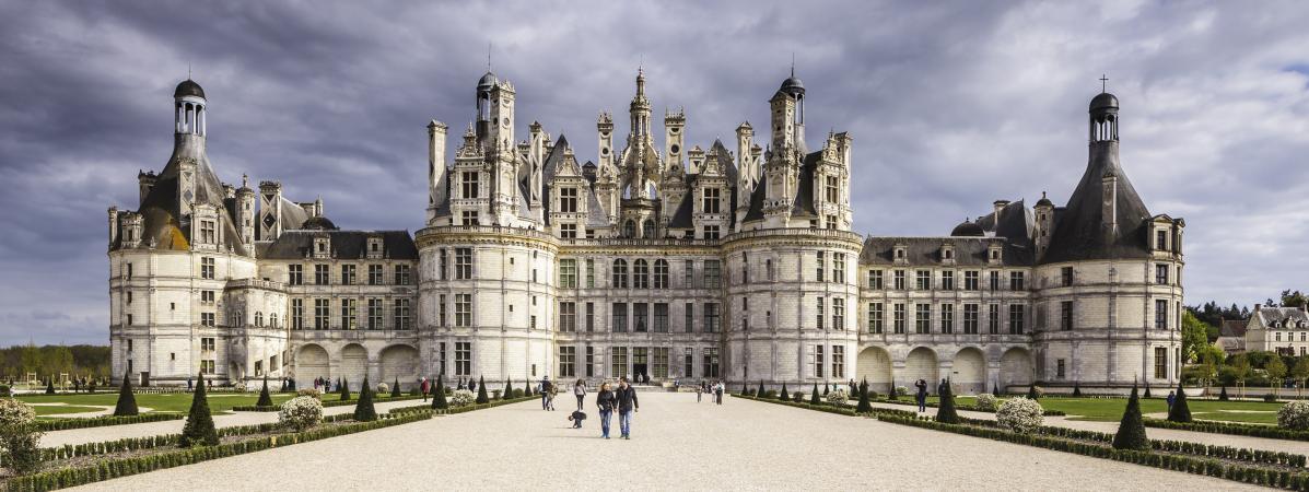 Le château de Chambord (Loir-et-Cher), photographié en avril 2017.