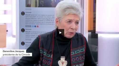 """Geneviève Jacques : """" nous refusons le fichage et le triage des réfugiés"""""""