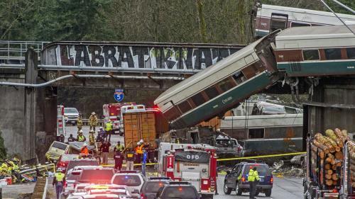 Etats-Unis : ce que l'on sait de l'accident de train qui a fait au moins trois morts dans l'Etat de Washington