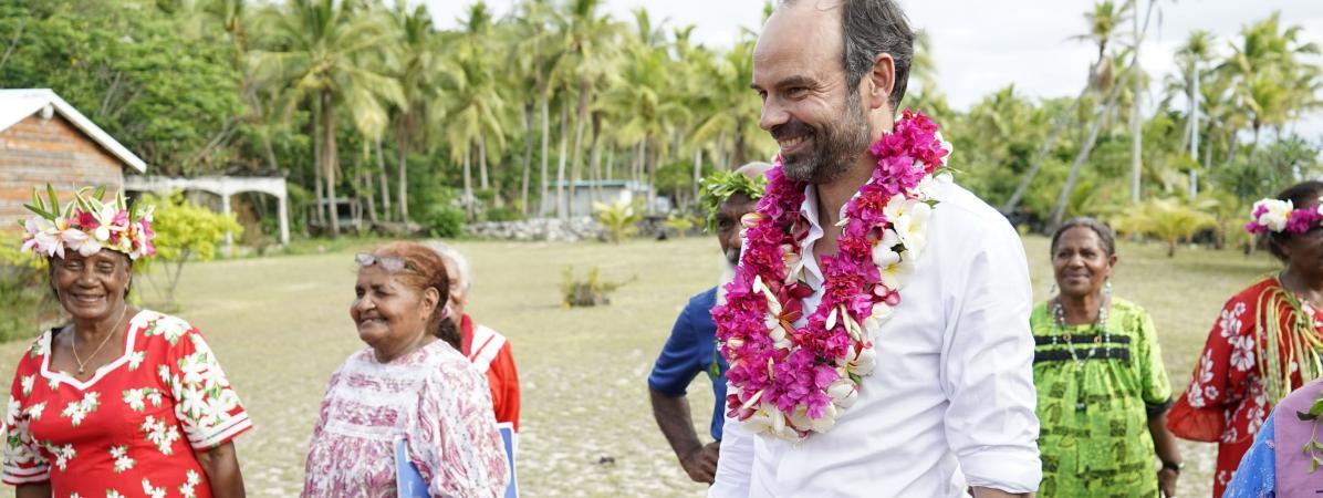Le Premier ministre Edouard Philippe, à Tiga, en Nouvelle-Calédonie, le 3 décembre 2017.