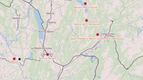 CARTE. Les lieux des disparitions dans lesquelles Nordahl Lelandais est soupçonné