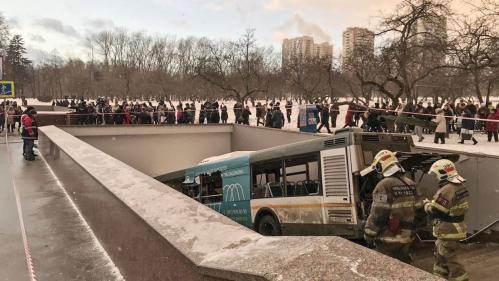 Un bus fonce dans un passage souterrain à Moscou et tue au moins 5 personnes