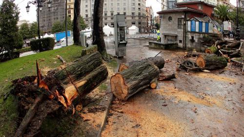 La tempête Bruno fait deux morts en Espagne