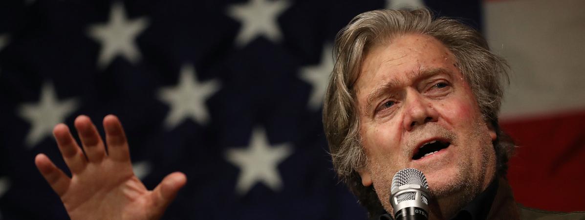 Steve Bannon, ex-conseiller de Donald Trump, accuse le fils du président de