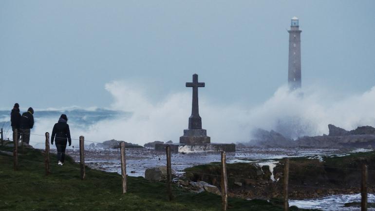 A Auderville (Normandie), lors du passage de la tempête Eleanor, le 3 janvier 2018.