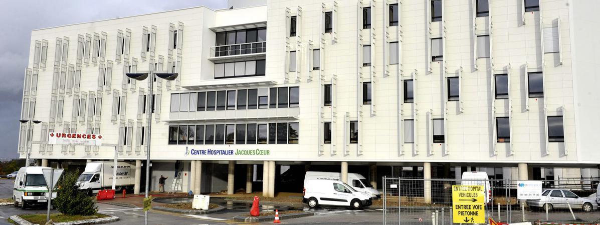 L\'hôpital de Bourges (Cher), où a été transportée une fillette de 6 ans, victime de maltraitance, le 30 décembre 2017.