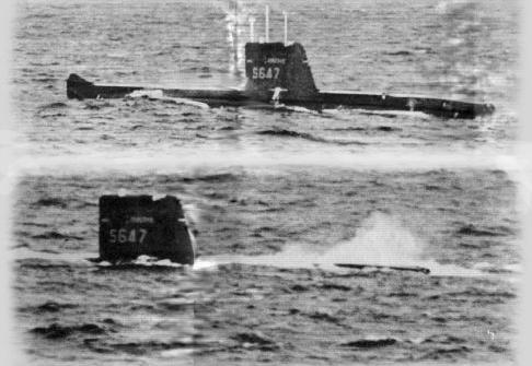 """Dernière plongée de """"La Minerve"""", sous-marin français disparu le 27 janvier 1968."""